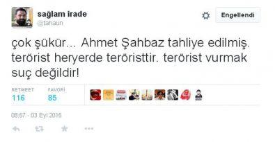 Ak Troll'den tepki çeken Ahmet Şahbaz tweeti