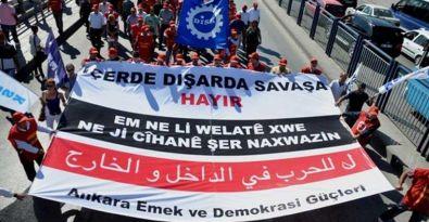 Emekçiler barış için Ankara'da