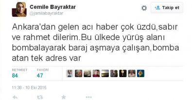 Ankara'daki patlama ile ilgili yandaş yazardan tepki toplayan tweet