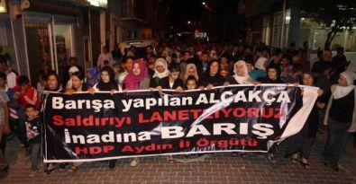Ankara Katliamı Aydın'da lanetlendi