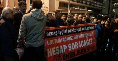 İş cinayetinde hayatını kaybeden İçli'nin arkadaşları BEDAŞ'a yürüdü