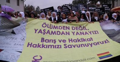 Türkiye'nin birçok ilinden Diyarbakır'a giden kadınlar:  Müzakereler yeniden başlatılmalı
