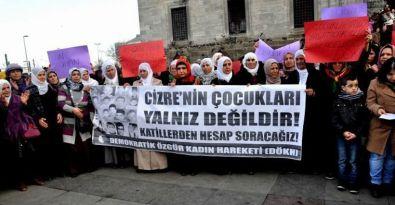 Kadınlar Cizre'de katledilenler için yürüdü