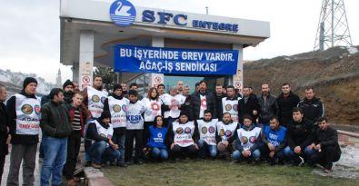 SFC grevine destek ziyareti