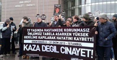 İş cinayetinde yaşamını yitiren Eroğlu için 'adalet' talebi