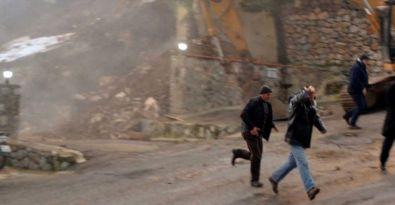 Bodrum'da istinat duvarı çöktü, faciadan dönüldü
