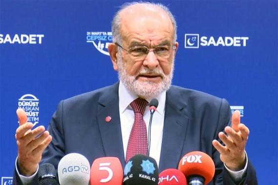 Saadet Partisi: Başkanlık sistemi değişmeden huzur gelmez