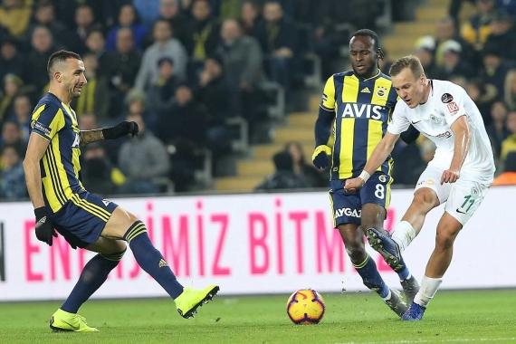 Konyaspor'la berabere kalan Fenerbahçe 15. sıraya geriledi