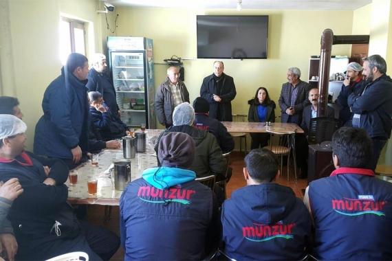 Devrimci Güçbirliği'nin Ovacık adayları Munzur Su işçileriyle buluştu