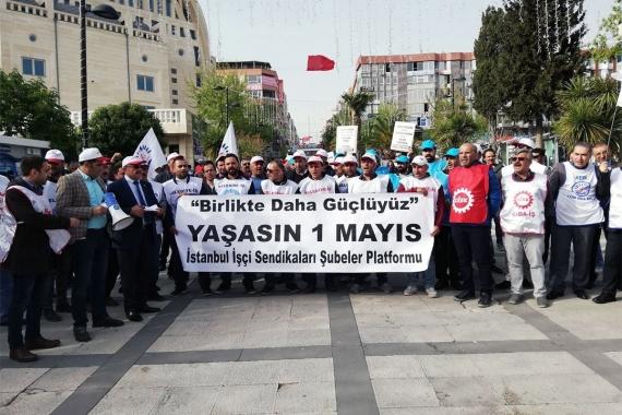 İstanbul İşçi Sendikaları Şubeler Platformundan 1 Mayıs açıklaması