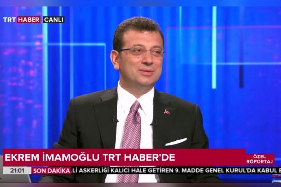 """Ekrem İmamoğlu'dan TRT'ye """"sansür"""" tepkisi: Adil olduğunuzu düşünüyor musunuz?"""