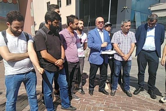 """""""Köle değiliz"""" diyen İstanbul Havalimanı işçileri 3. kez hakim karşısına çıktı"""