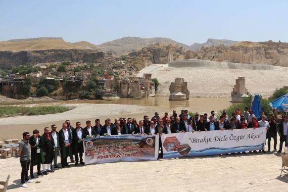 20 ilin baro başkanları Hasankeyf için bir araya geldi