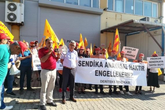 DERİTEKS'TE örgütlenen 9 işçi işten atıldı: Sendikalaşmak suç değildir
