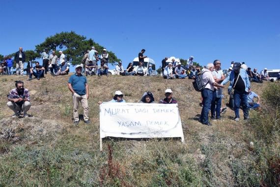 Murat Dağı'nda yapılmak istenen siyanürlü maden arama için keşif yapıldı