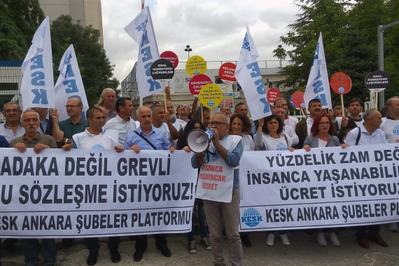 KESK üyesi kamu emekçileri pek çok ilde eylemler yaptı: Sefalet zammına hayır
