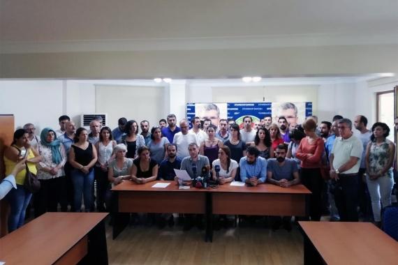 Diyarbakır'da ortak açıklama: Kayyum kararı hukuki dayanaktan yoksun
