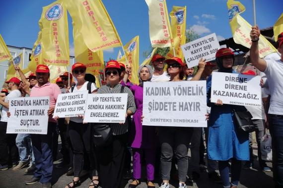 Vip Giyim işçileri: Baskılara rağmen sendika hakkı için mücadele ediyoruz