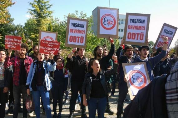 ODTÜ'de provokatif eylem tepkiler üzerine iptal edildi