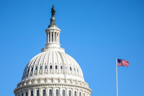 ABD Kongre Binası kubbesinin dıştan görünümü