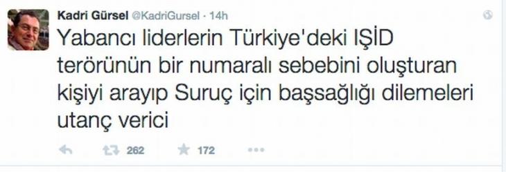 Milliyet, Erdoğan'ı eleştiren Kadri Gürsel'i kovdu