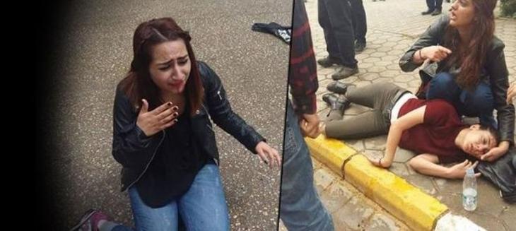 Üniversitede 1 Mayıs bildirisi dağıtan öğrencilere saldırı