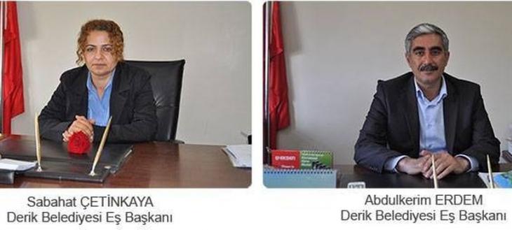 Derik Belediyesi eş başkanları tutuklandı