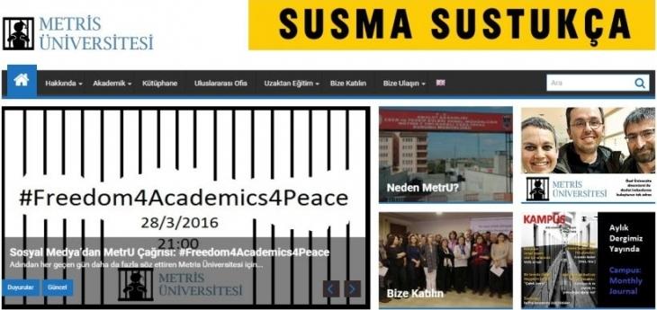 Tutuklu akademisyenlere destek için 'Metris Üniversitesi' açıldı