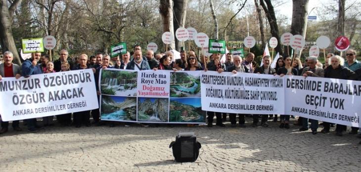 Ankara'da Munzur eylemi: Dersim'de ikinci katliam