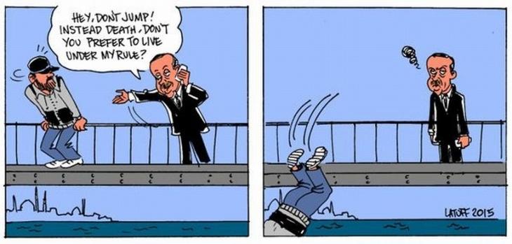 Latuff yine Erdoğan'ı çizdi