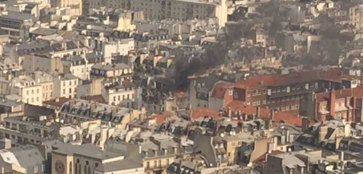 Paris'in merkezindeki bir binada patlama yaşandı