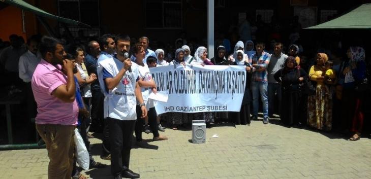 Antep'te tutuklularla dayanışma eylemi