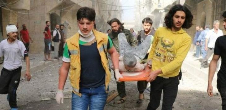 Halep'te hastane vuruldu: En az 27 ölü
