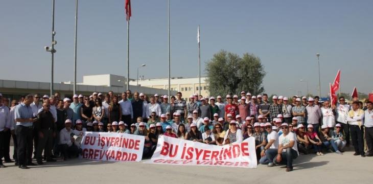 Dr. Oetker işçileri greve çıktı
