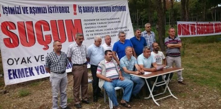 İşten atılan İSDEMİR işçilerinin eylemleri devam ediyor
