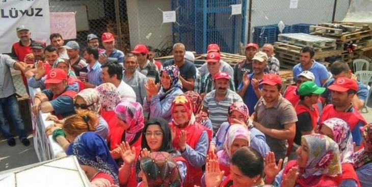 Kimberly Clark işçilerinden SeraPool işçilerine destek ziyareti