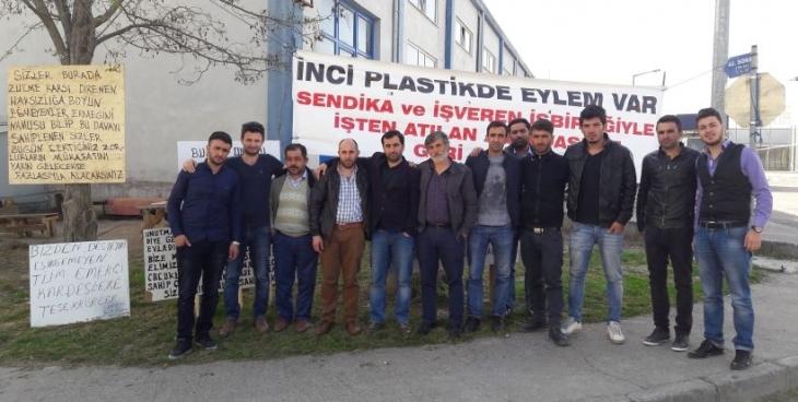 İnci Plastik işçileri sözleşme sürecine mücadeleyle girdi