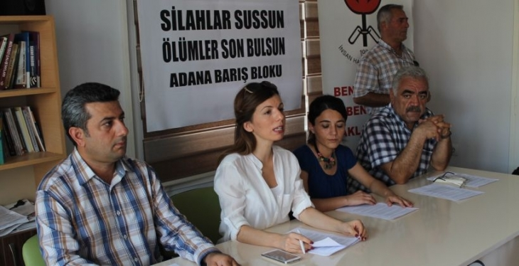 Adana Barış Bloku'ndan ateşkes çağrısı