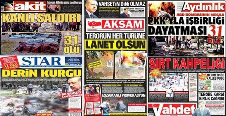 Yandaş medya IŞİD'i bıraktı HDP'ye saldırdı