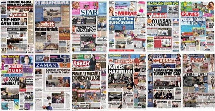 Savaş medyası uygun adım marş!