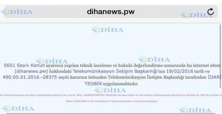 DİHA'ya erişim 29. kez engellendi