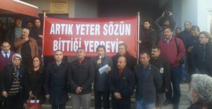 Aliağa'da emekçiler katliamı kınadı: 'Barışın, emeğin, demokrasinin sesi yükseltilmeli'