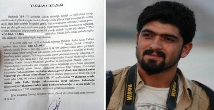 DİHA Muhabiri Güldem skandal tutanakla gözaltına alındı