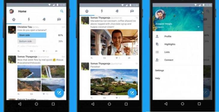 Twitter'ın Android uygulaması yeni görünümüne kavuştu