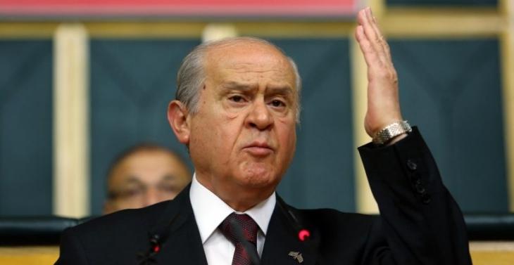 Bahçeli, CHP ve HDP'ye çattı, AKP'ye koalisyon mesajı verdi