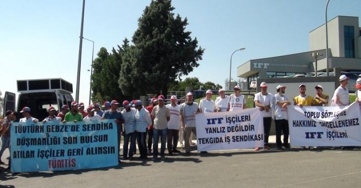 IFF işçileri sendikal hakkını istiyor