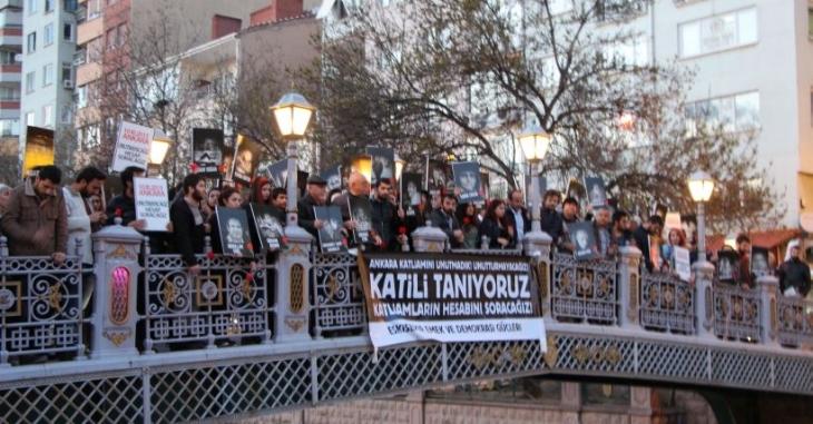 Ankara Katliamı'nda yaşamını yitirenler Eskişehir'de anıldı
