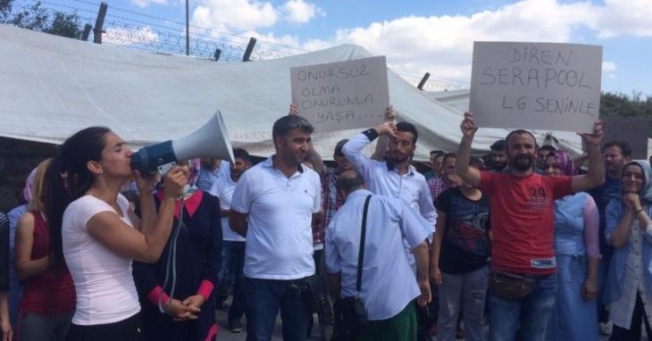 LG işçilerinden SeraPool'a destek ziyareti