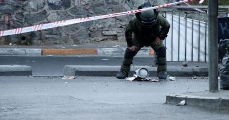 Okmeydanı'nda şüpheli paketten parça tesirli bomba çıktı