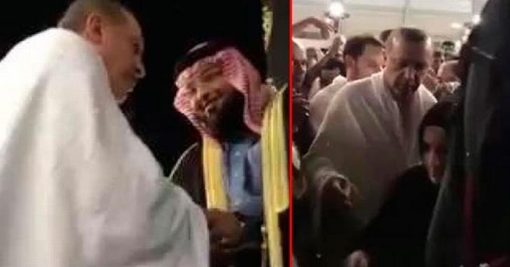 Erdoğan, Suudi kralının emriyle açılan Kabe'yi ziyaret etti
